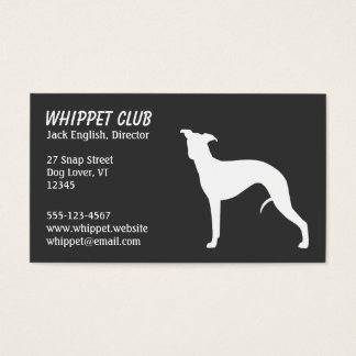 Whippet Silhouette Business Card
