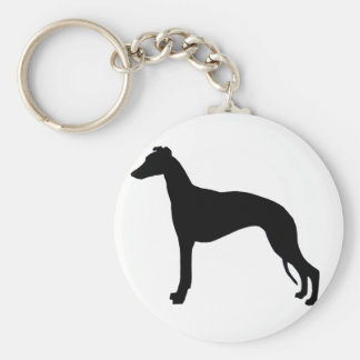 whippet silhouette key ring