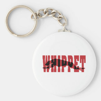 Whippet silhouette key ring