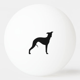 Whippet Silhouette Ping Pong Ball