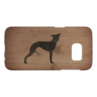 Whippet Silhouette Rustic