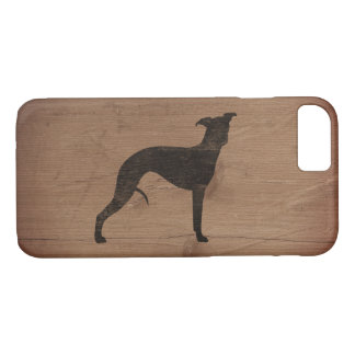 Whippet Silhouette Rustic iPhone 8/7 Case