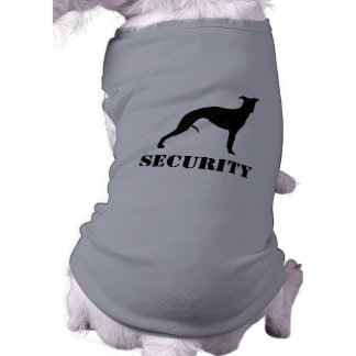 Whippet Silhouette with Custom Text Sleeveless Dog Shirt
