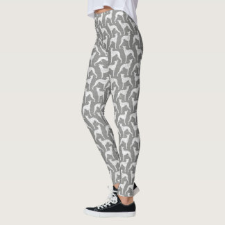 Whippet Silhouettes Pattern Leggings