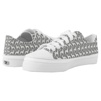 Whippet Silhouettes Pattern Low Tops