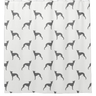 Whippet Silhouettes Pattern Shower Curtain