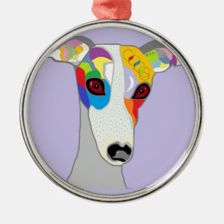 WHIPPET Silver-Colored ROUND DECORATION