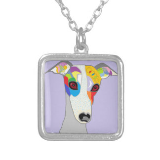 WHIPPET SILVER PLATED NECKLACE