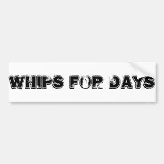 Whips Bumper Sticker