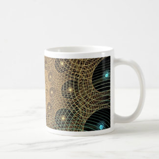 Whirl fractale basic white mug