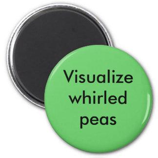 Whirled peas 6 cm round magnet