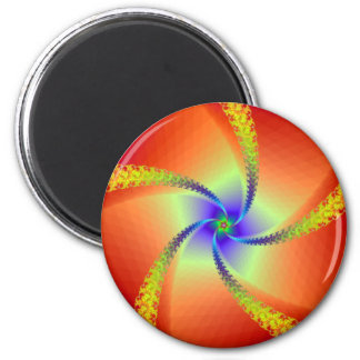 Whirligig in Red and Yellow Fridge Magnet