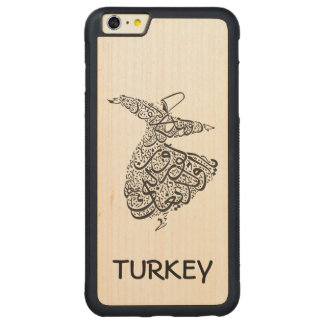 Whirling Dervish Carved Maple iPhone 6 Plus Bumper Case