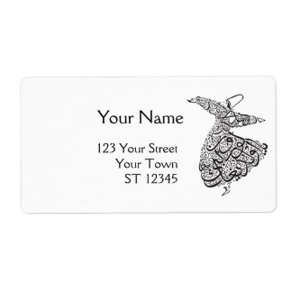 Whirling Dervish Shipping Label