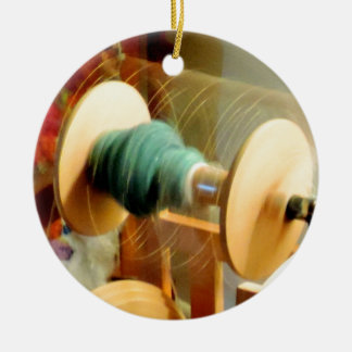 Whirling Lights of the Spinning Wheel Photograph Ceramic Ornament