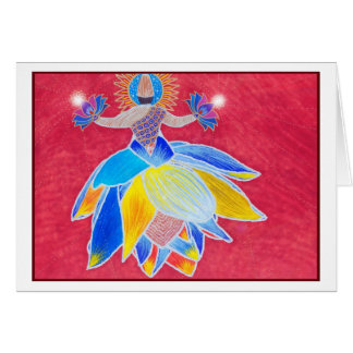Whirling Lotus Card