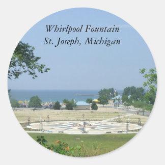 Whirlpool Fountain St. Joseph, Michigan MI Round Sticker