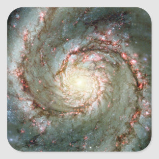 Whirlpool Galaxy Square Sticker