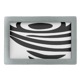 Whirlpool Rectangular Belt Buckle