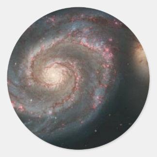 whirlpoolgalaxy round sticker