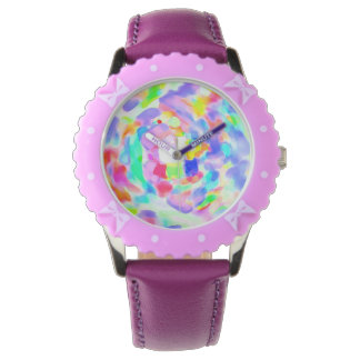 Whirlwind of colors inside a white watch! watches
