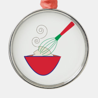 Whisk and Bowl Metal Ornament