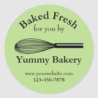 Whisk Personalized Bakery Stickers for Business