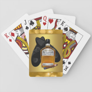 Whiskey and Cigar Poker Card Game Playing Cards