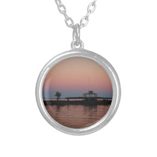 Whiskey Bay Sunset, St Joseph Island Silver Plated Necklace