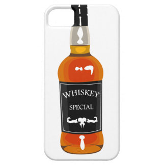 Whiskey Bottle Drawing Isolated On White Backgroun Barely There iPhone 5 Case
