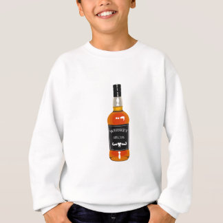 Whiskey Bottle Drawing Isolated On White Backgroun Sweatshirt