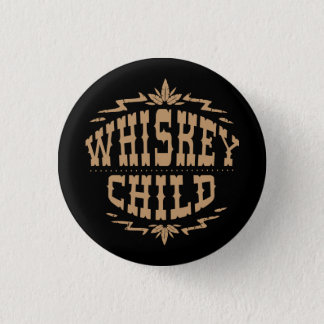 WHISKEY CHILD - Black Button w/Fall Harvest Logo