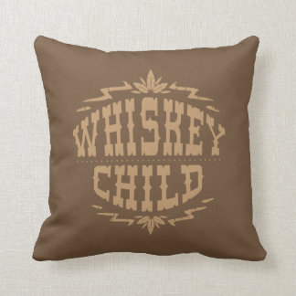 WHISKEY CHILD - Brown Pillow w/Fall Harvest Logo