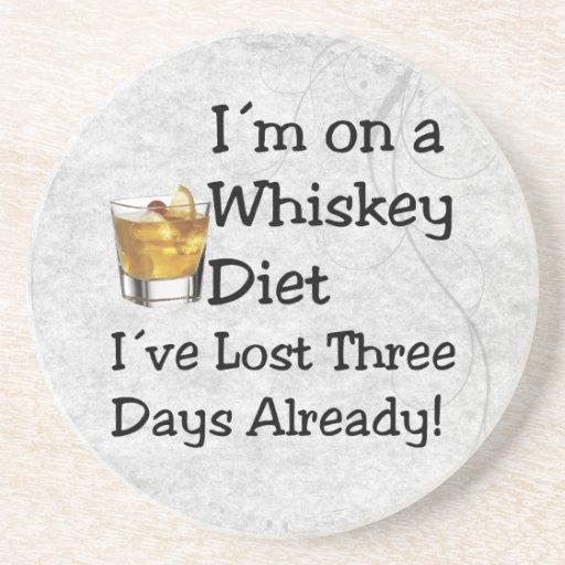 Whiskey Diet Beverage Coaster