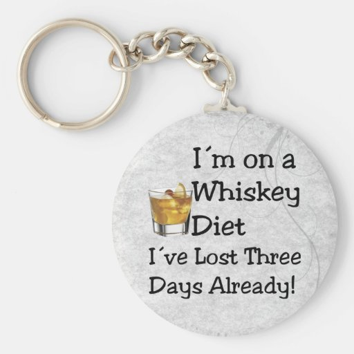 Whiskey Diet Keychain