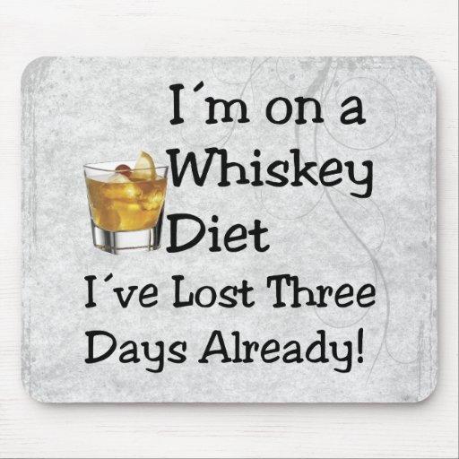 Whiskey Diet Mousepad