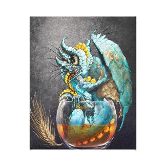 Whiskey Dragon 8x10 Canvas Print