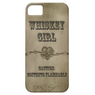 Whiskey Girl - Caution! Cell Phone Case Case For The iPhone 5