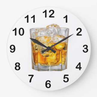Whiskey Glass Wall Clock