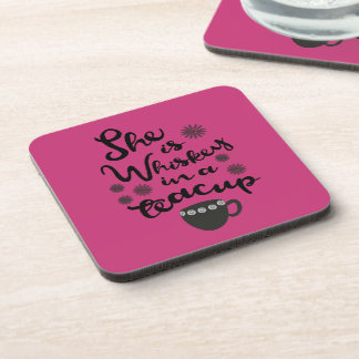 Whiskey In A Teacup Hard Plastic Coasters Set