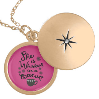 Whiskey In A Teacup Round Locket
