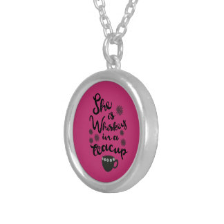 Whiskey In A Teacup Silver Plated Necklace