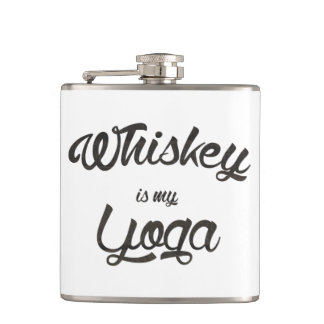 Whiskey is my yoga hip flask