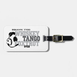 Whiskey Tango Foxtrot - Aviation Humor Luggage Tag