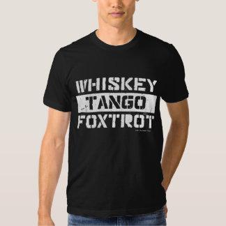 Whiskey Tango Foxtrot Grunge Look Men's T-Shirt