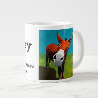 Whiskey the donkey jumbo coffee mug