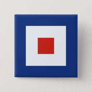 Whiskey (W) Signal Flag 15 Cm Square Badge