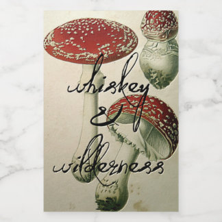 Whiskey & Wilderness Mushroom Flask Sticker