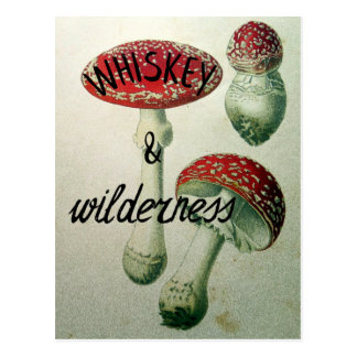 Whiskey & Wilderness Toadstool Postcard