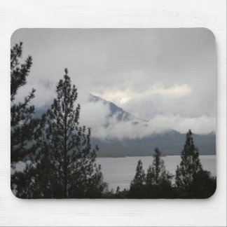 Whiskeytown Lake with the misting  fog... Mouse Pad